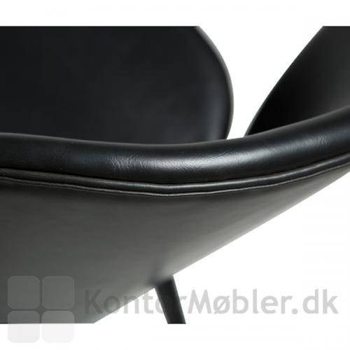 Cloud stol med kunstlæder polstring i farven Vintage sort