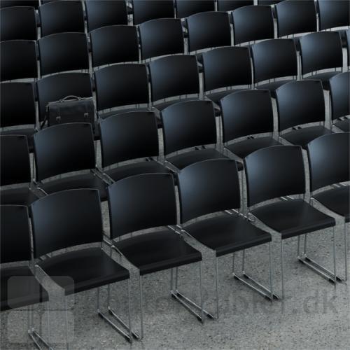 Sting mødestol med medestel fungerer godt til større opstillinger
