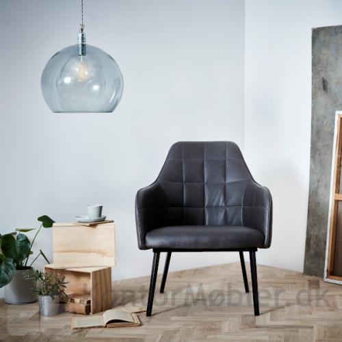 Embrace Loungestol grå kunstlæder