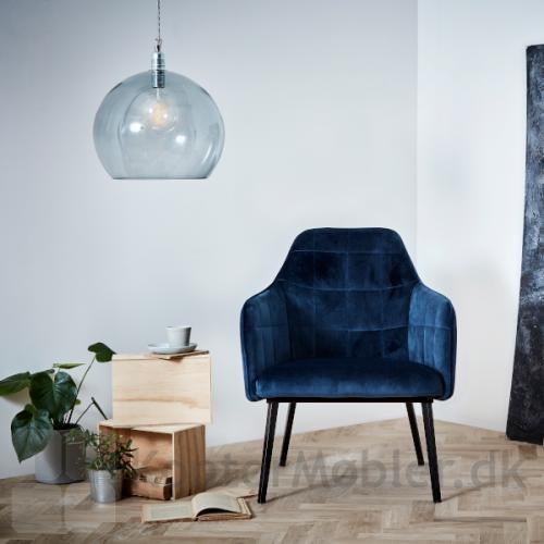 Embrace Lounge Blå Velour