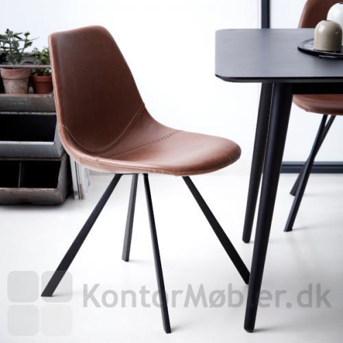 Pitch stol i Vintage lysebrun