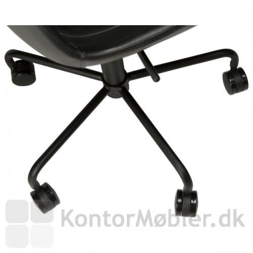 Hype kontorstol i sort med hjul