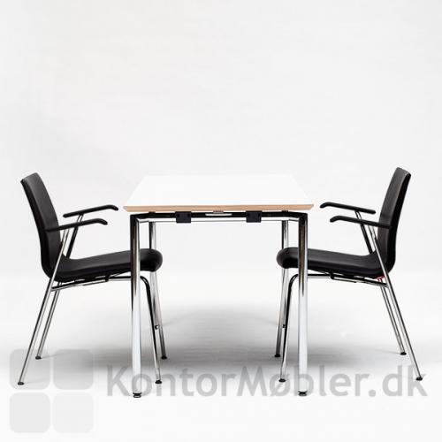 Concept foldebord Kan vælges med bordplade i flere typer materialer og farver