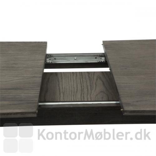 Dumas mødebord med tillægsplader, opbevar tillægspladerne under bordpladen