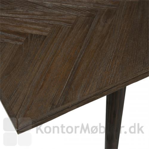 Bone mødebord i reclamed elm, med ben i samme materiale