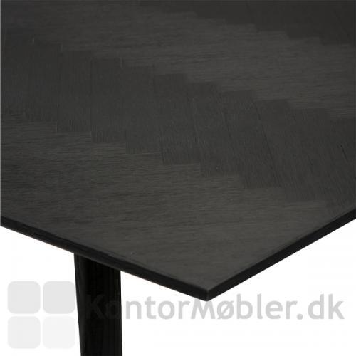 Bone mødebord med bordplade i sort farvet ask og ben i sort farvet elm