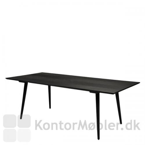 Bone mødebord i sort med bordhøjde 75 cm