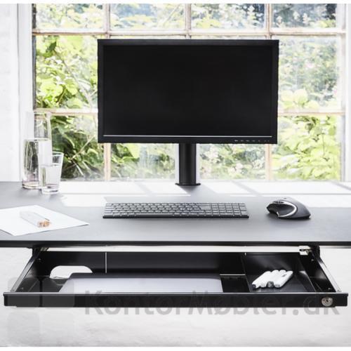Athene laptopskuffe har to udluftningshuller, for at undgå overophedning