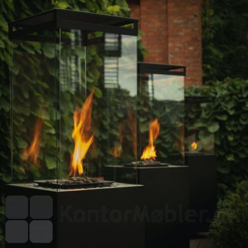 Glas på Lighthouse terrassevarmer kan let afmonteres og udskiftes
