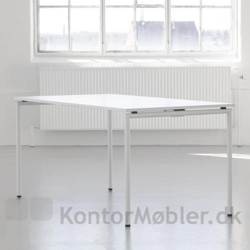 Four Eating kantinebord med hvid bordplade og hvide ben