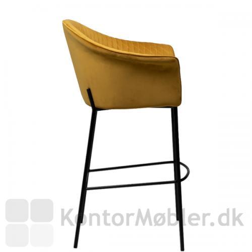 Kite barstol med sorte ben, kan vælges i to højder