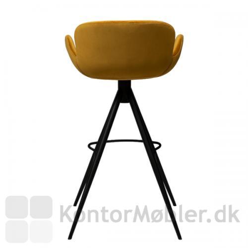 Gaia barstol i bronze velour, med god siddekomfort