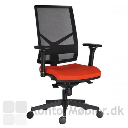 Omnia kontorstol kan vælges med sædepolstring i flere farver