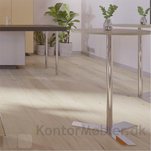 Delta rundt mødebord i laminat i bordhøjde 105 cm