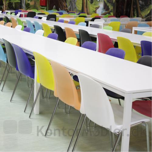 Selena stolen kan vælges i mange farver, mix de forskellige farver eller vælg en farve til hele indretningen