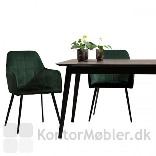 Embrace grøn velour stol