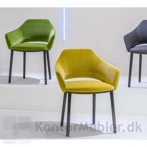 Vic armstol kan vælges i velour i flere farver
