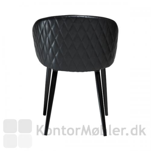 Dual stol i Vintage sort kunst læder