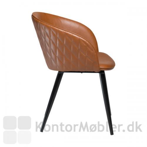 Dual stol i Vintage lysebrun kunstlæder
