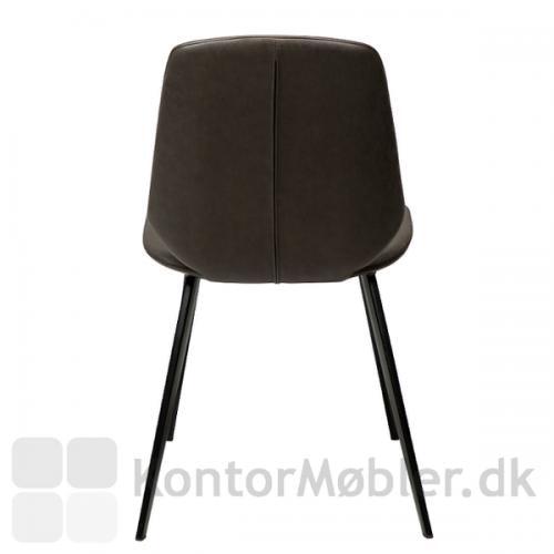 Swing restaurantstol fra Dan-Form med enkel og klassisk ryg