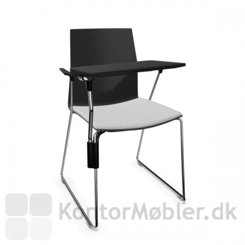 FourCast´2 Line mødestol med Inno®note skriveplade i sort
