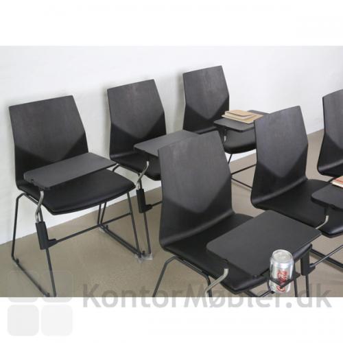 FourCast´2 Line mødestol med Inno®note skriveplade med kop holder
