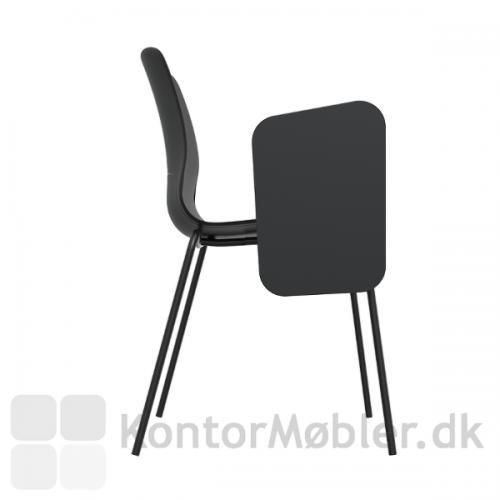 Gate Reflect kantinestol med skriveplade, giver stolen en ny funktion