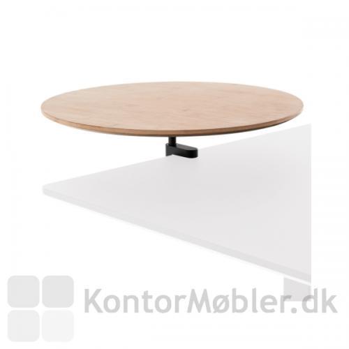 Rundt bord i bambus med bordbeslag