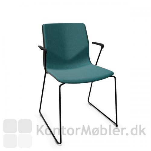 FourSure 88 mødestol med indersidepolstret med Cura i farven blå - 67084