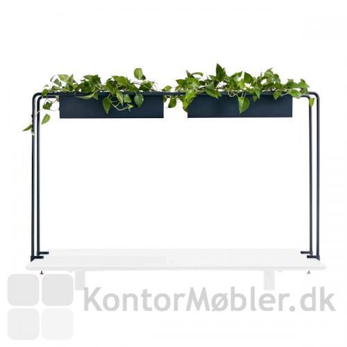 Flower House tilfører grønne planter i højden og afgrænser din arbejdsplads.