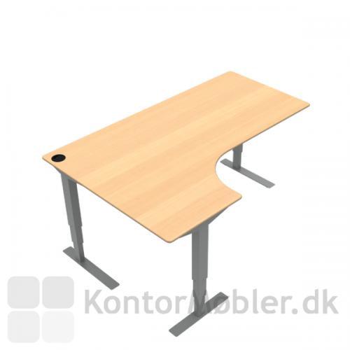 Conset 501-37 venstre vendt hæve sænke bord 180x80/120 cm i finér. Kontakt os for yderligere information