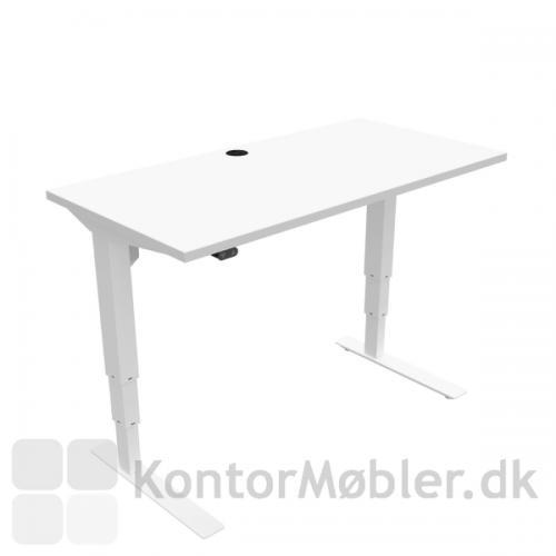 Conset 501-37 hæve sænke bord i hvid, med bordpladestørrelse 120x60 cm