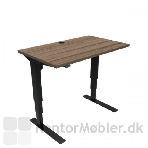 Conset 501-37 hæve sænke bord med valnød melamin bordplade i størrelse 100x60 cm