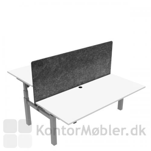 Conset 501-88 Dobbeltbord med plads til det hele. Bordplade størrelse 180x80 cm