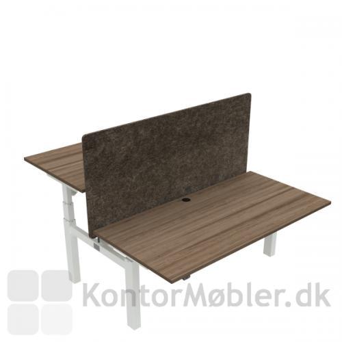 Conset 501-88 Dobbeltbord med bordpladestørrelse 160x80 cm og kabelgennemføring
