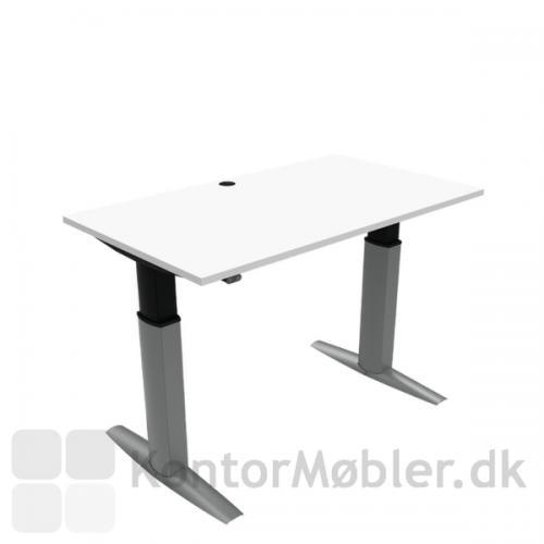 Conset 501-23 hæve sænke bord med hvid bordplade i størrelsen 140x80 cm