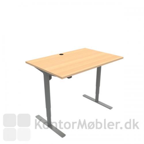 Conset 501-49 hæve sænke bord med bordplade i bøg melamin 120x80 cm