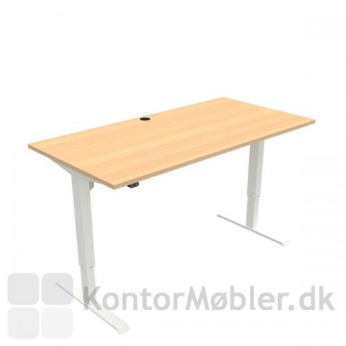 Conset 501-33 hæve sænke bord med bordpladestørrelse 160x80 cm, hvide ben