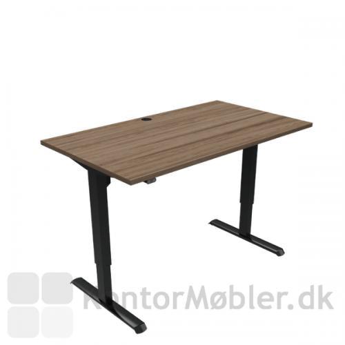Conset 501-33 hæve sænke bord med bordpladestørrelse 140x80 cm, sorte ben