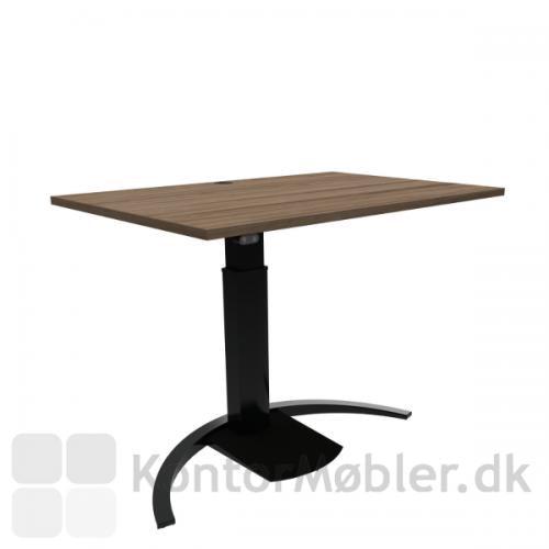 Conset 501-19 Design hæve sænke bord med valnød melamin bordplade 120x80 cm