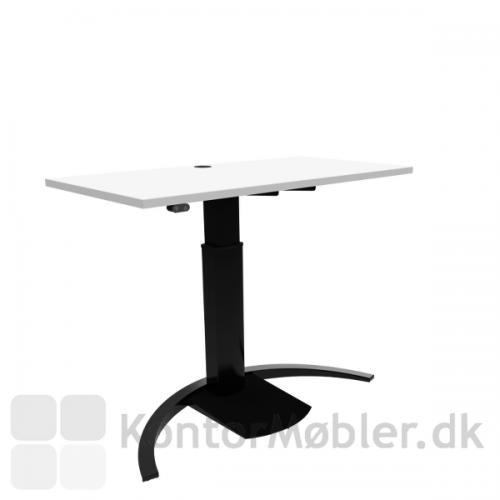Conset 501-19 Design hæve sænke bord med hvid melamin bordplade 120x60 cm
