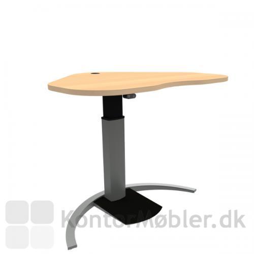 Conset 501-19 Design hæve sænke bord med bøg melamin bordplade 117x 90 cm