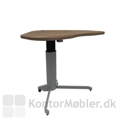 Conset 501-7 hæve sænke bord med valnød melamin bordplade