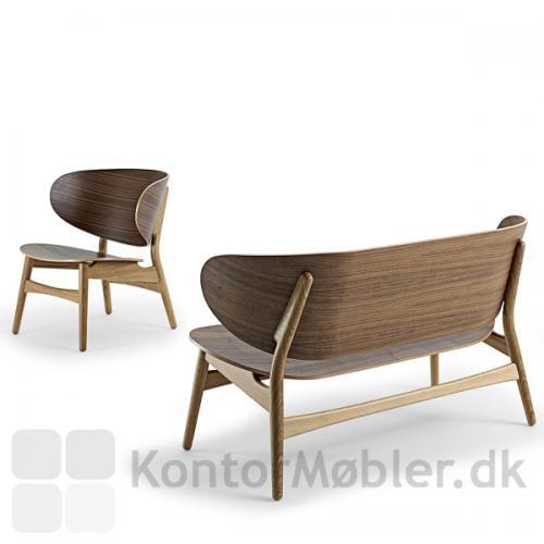 GE 1936 Wegner stol kombineret med GE 1935 bænk