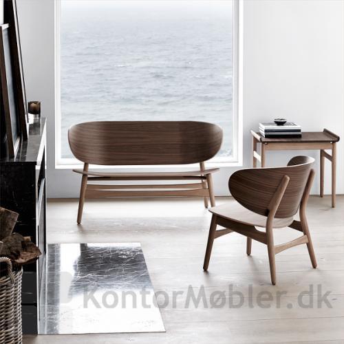GE 1935 Wegner bænk og stol i klassisk design
