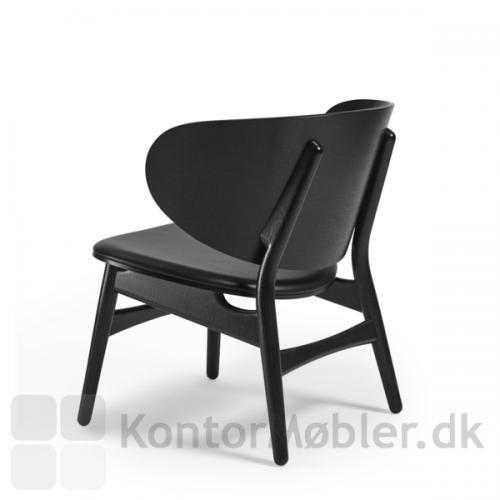 GE 1936 Wegner stol med sortbejdset ryg, sæde og ben