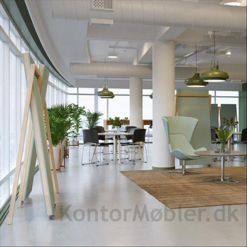 Lyddæmpende design gulvskærm kan nemt flyttes efter behov