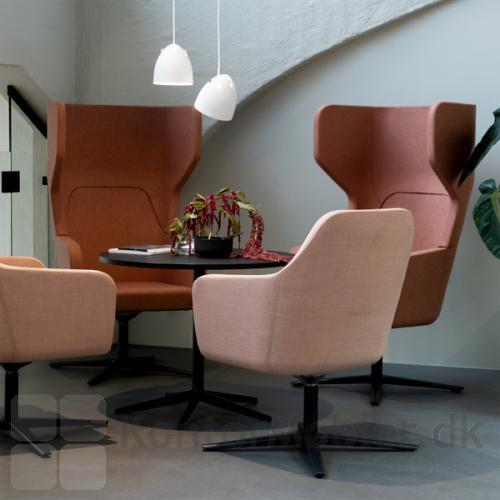 Harc Tub loungestol med drejbar stel og flydende vip