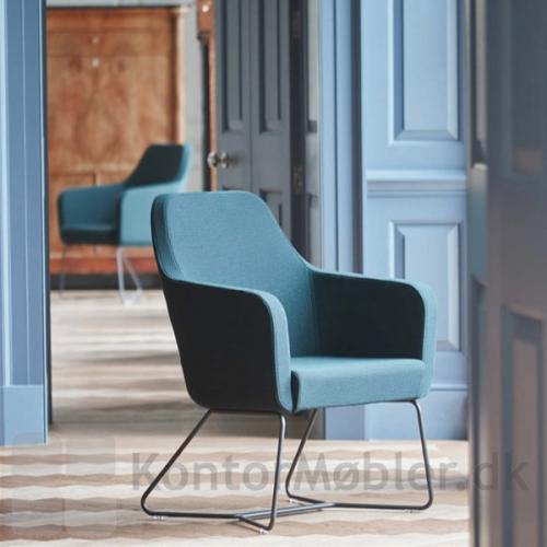 Harc Tub loungestol med sort medestel