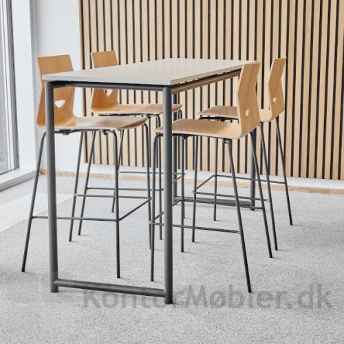 Four Cast´2 High - barstol med sæde i egefiner